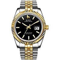Men's Automatic Watch, Elegant Model, Classic Design, Synthetic Sapphire Glass, Stainless Steel Case and Strap