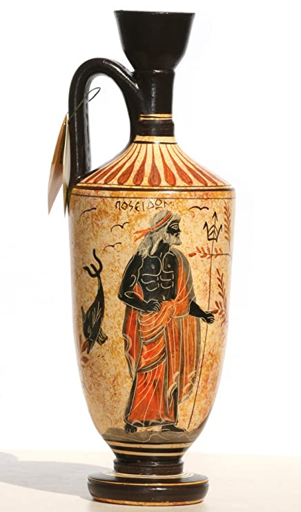 Amazon Greek Ceramic Vase Pot Vessel Lekythos Goddess Athena