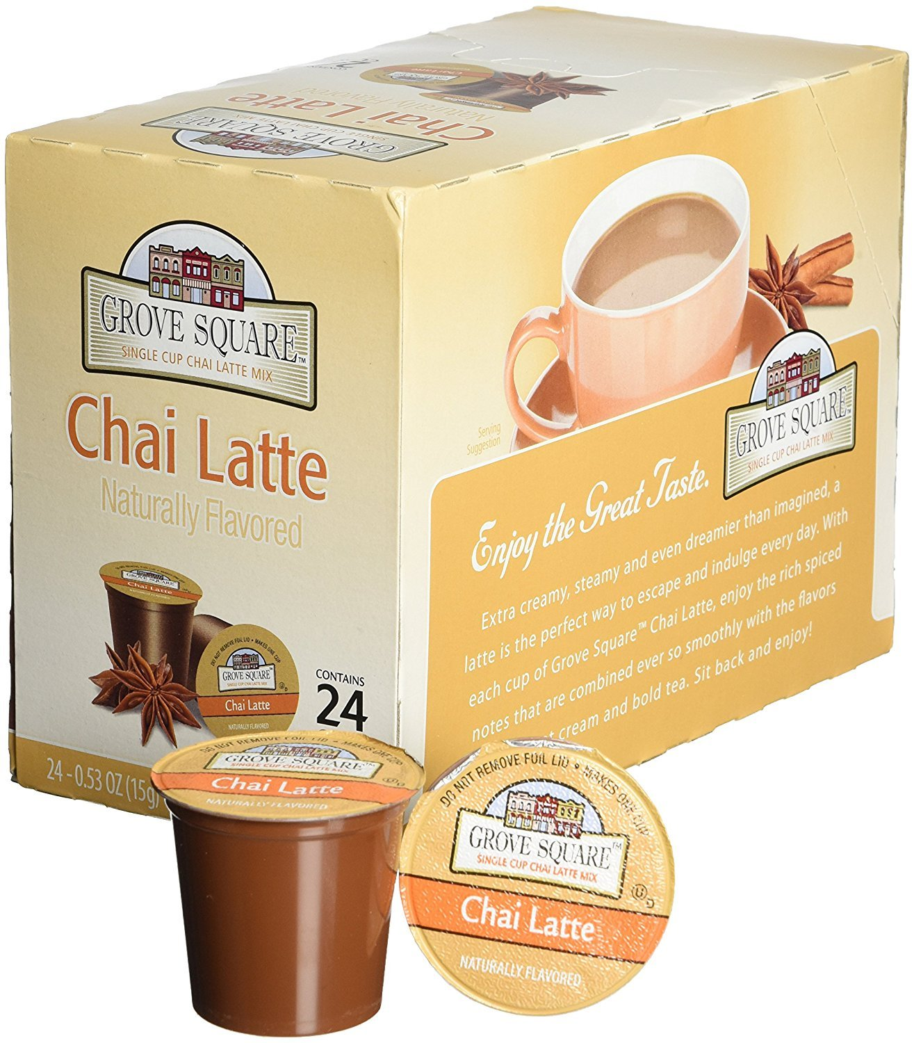 Grove Square Chai Latte, 48-count Single Serve Cup For