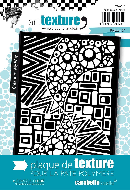 Carabelle Studio TEX0017 Texture Motif Polyzen 2 Caoutchouc Blanc 9 x 13, 5 x 0, 5 cm