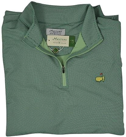 66cee9d1 Masters 2018 Peter Millar Men's Augusta Pine Green 1/4 Zip Pullover Jacket  (Medium