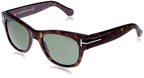 68c5a1c3a7e Image Unavailable. Image not available for. Colour  Tom Ford Cary Sunglasses  in Dark Havana FT0058 52N 52 52 Green