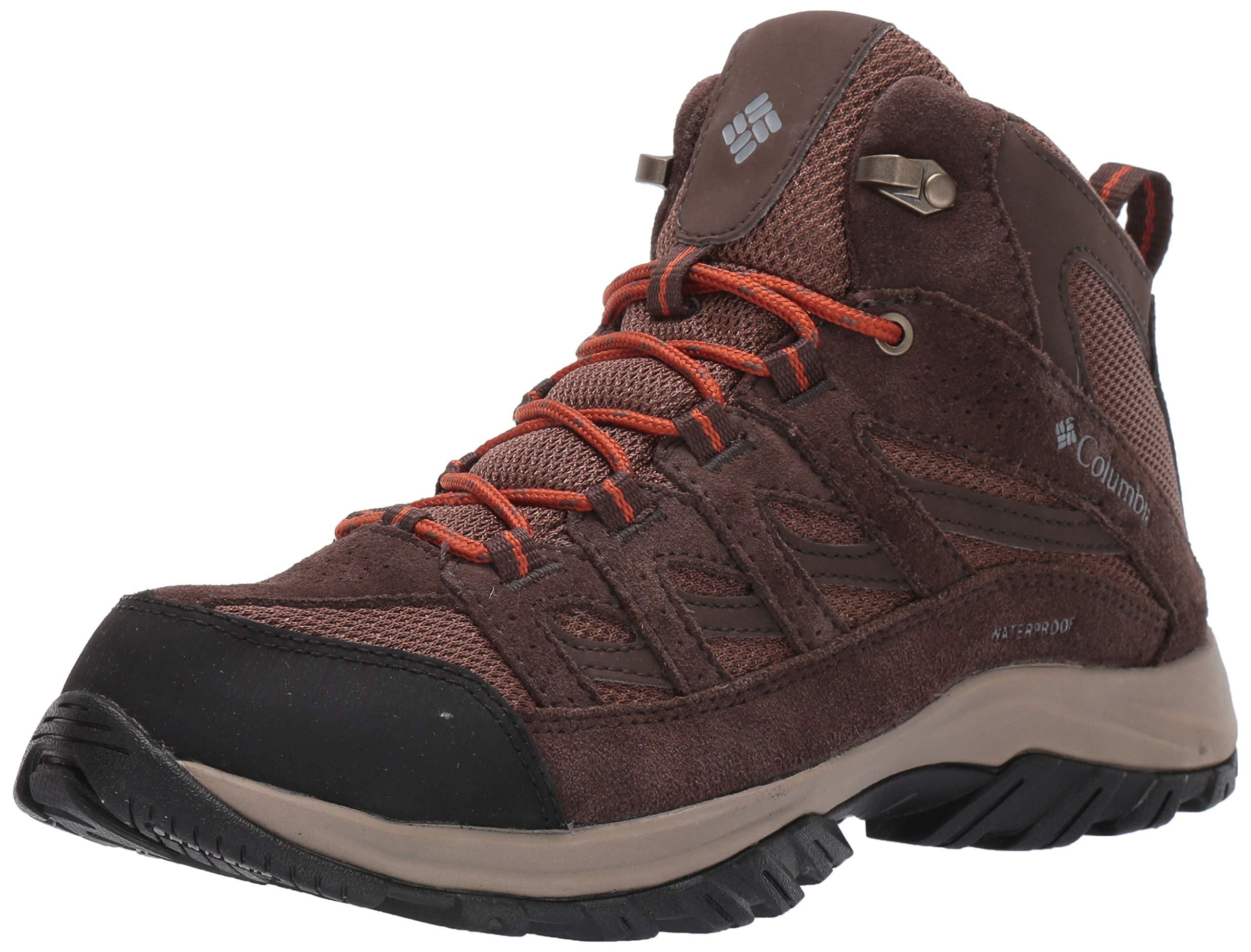 Columbia Men's Crestwood MID Waterproof Hiking Shoe, Brown, Dark Adobe, 15 Regular US by Columbia