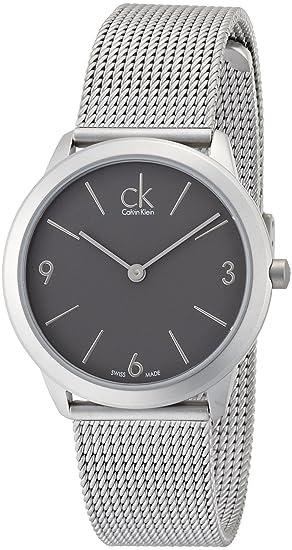 Calvin Klein K3M52154 - Reloj analógico de Cuarzo para Mujer con Correa de Acero Inoxidable, Color Plateado: Amazon.es: Relojes