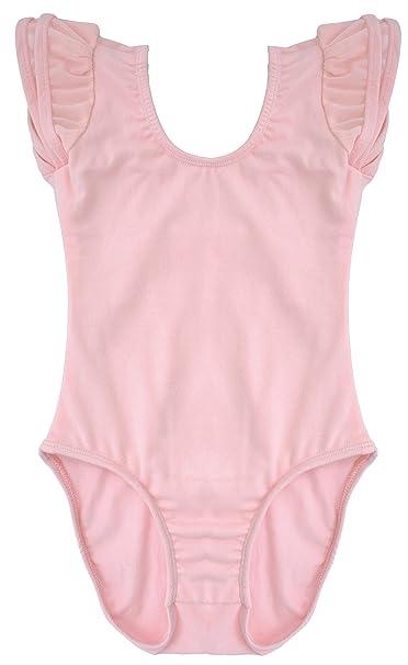1af103568915 Amazon.com  Dancina Flutter Short Sleeve Leotard for Girls  Clothing