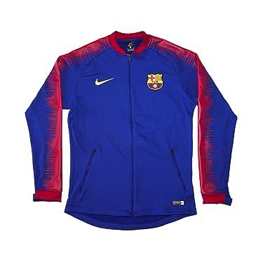 Men s Official 2018-2019 FC Barcelona Anthem Jacket 894361-456 Blue (Small) 327364af7