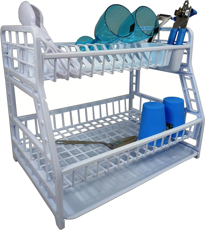 Hobby /Égouttoir pour vaisselle /à 2 /étages en plastique Blanc