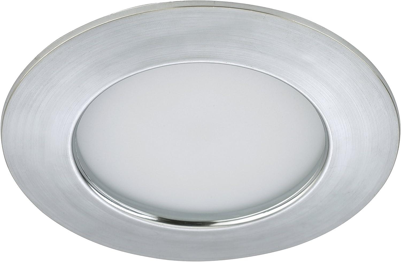 Briloner Leuchten 7206-012 Encastrable LED 230v plafonnier spots,lampe de salle de bain rond Plastique Nickel Mat 10.5 W