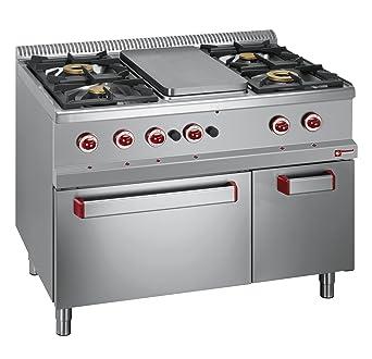Modular Cocina de gas 4 quemadores, placa de cocción, Gas Horno GN ...