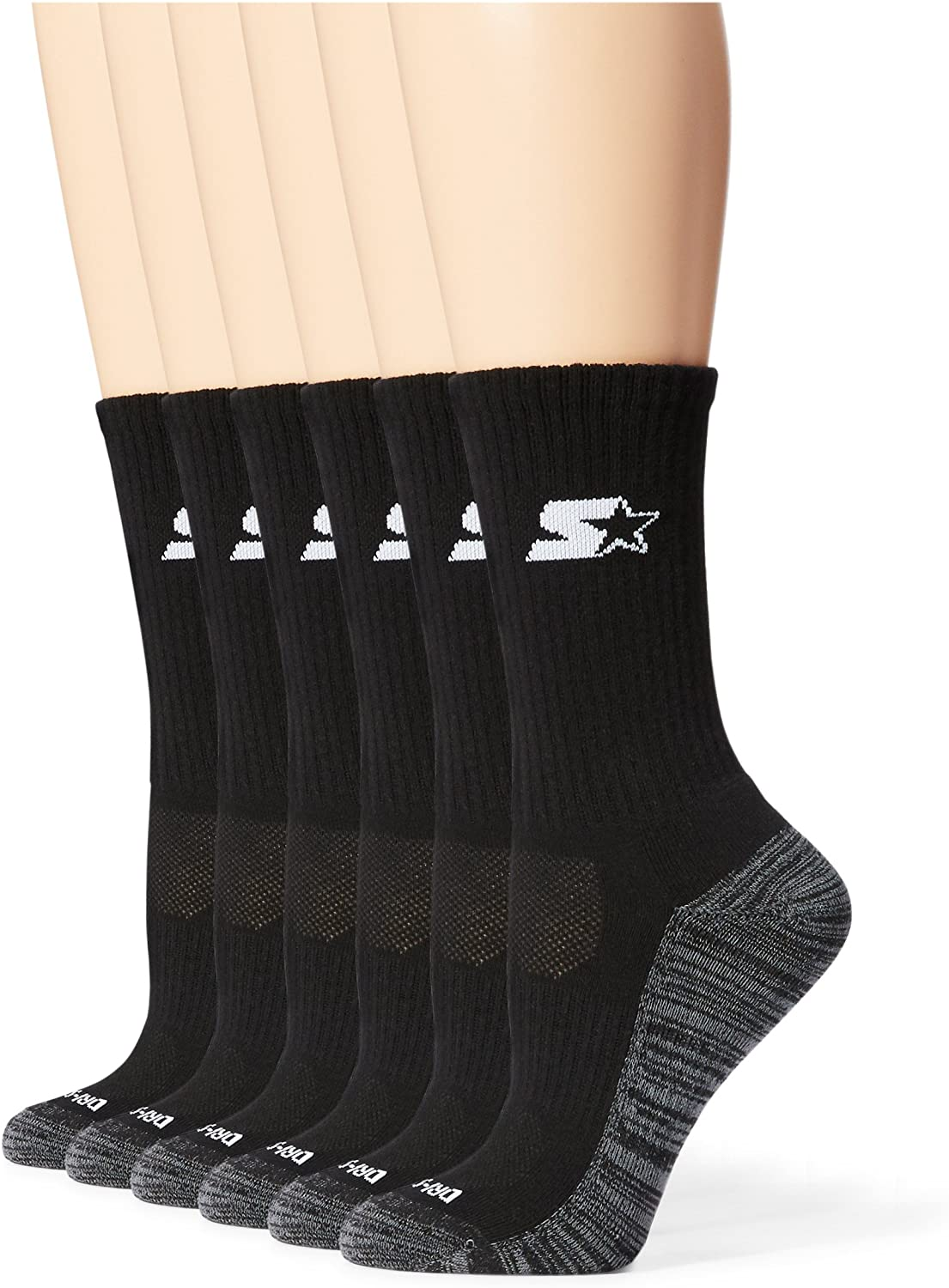 Exclusive Starter Womens 6-Pack Athletic Crew Socks