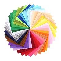 SOLEDì Feltro in Fogli Feltro e Pannolenci Fogli Colorati Lavoretti di Cucito Bricolage Tessuto Patchwork (41 Colori/60 Colori)