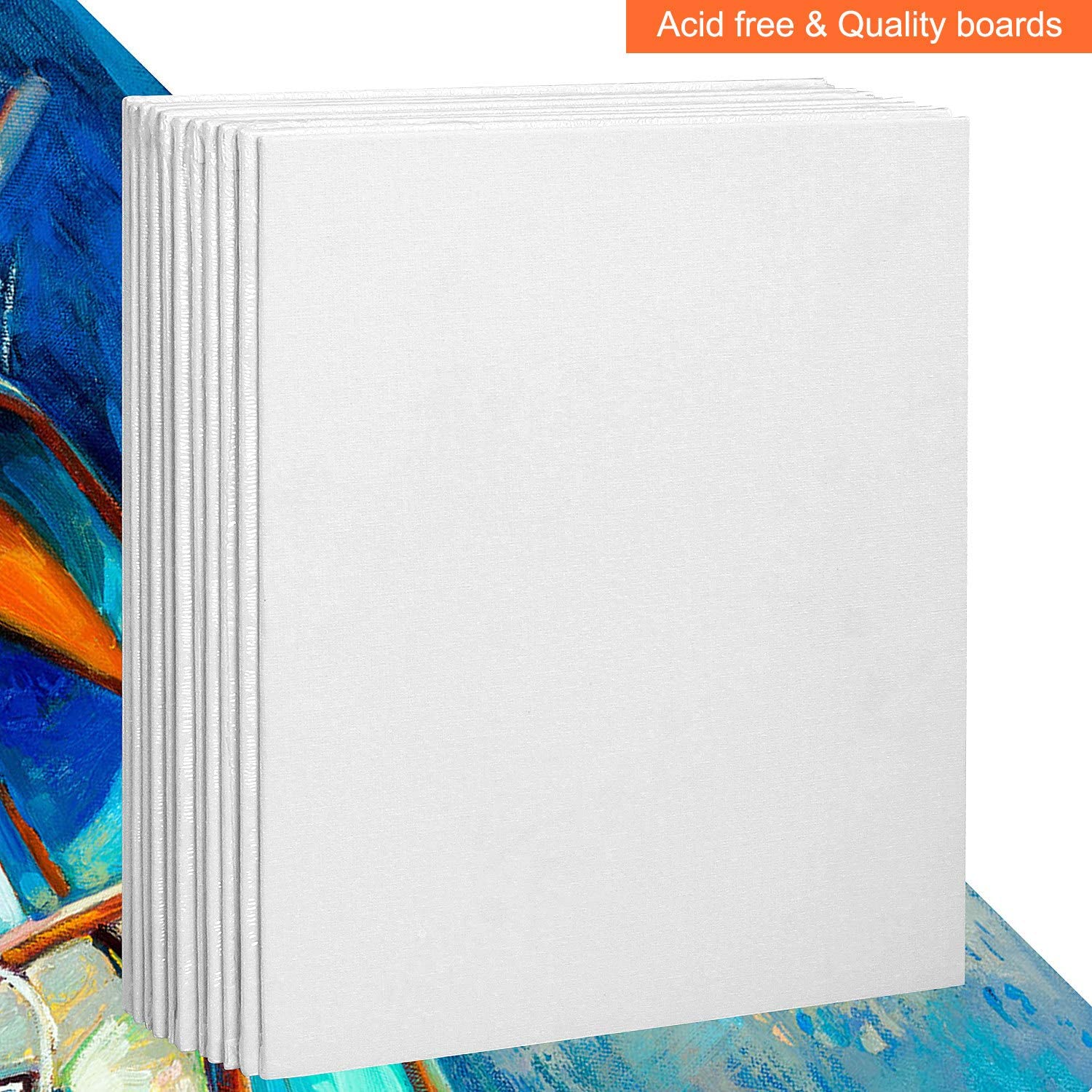 LANIAKEA 12 Pack Canvas Panels 8x10 Artist Canvas Boards for Painting