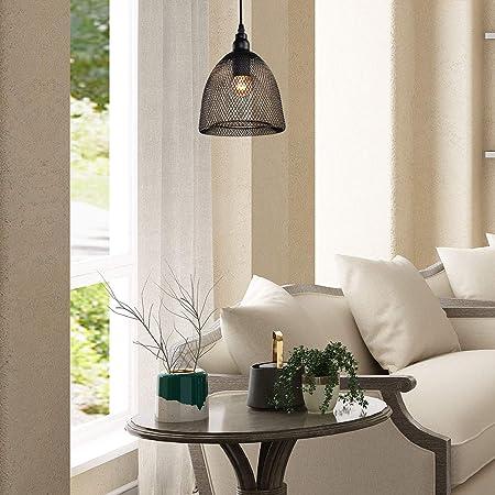 Amazon.com: LNC Malla de alambre colgante iluminación: Home ...