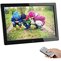 Digitaler Bilderrahmen, SSA 8 Zoll 1280x800 Hohe Auflösung Full IPS Foto/Musik / Video Player Kalender Alarm Auto on/Off Timer, Ultra Slim Design mit Fernbedienung