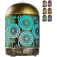 GeeRic Humidificador Aceites Esenciales,300ml humificador de Aromas en Metal Difusor de Aceite perfumado Nebulizador…