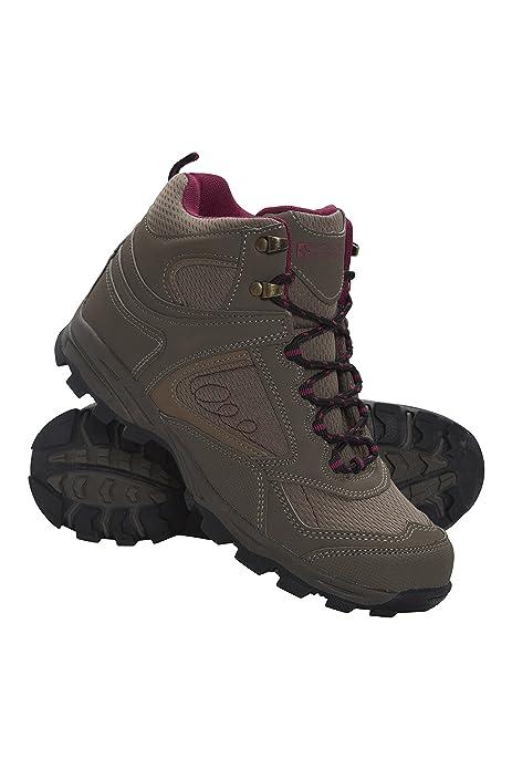 Mountain Warehouse Botas cómodas McLeod para Mujer - Botines Transpirables, Botas de montaña Resistentes, Zapatos para Caminar Ligeros y Acolchados: ...