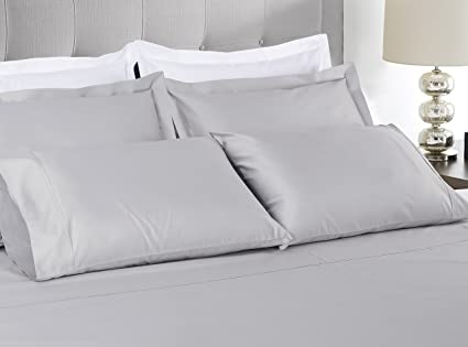 800 Thread Count 100% Extra Long Staple Cotton Solid Sheet Set, Queen Sheets