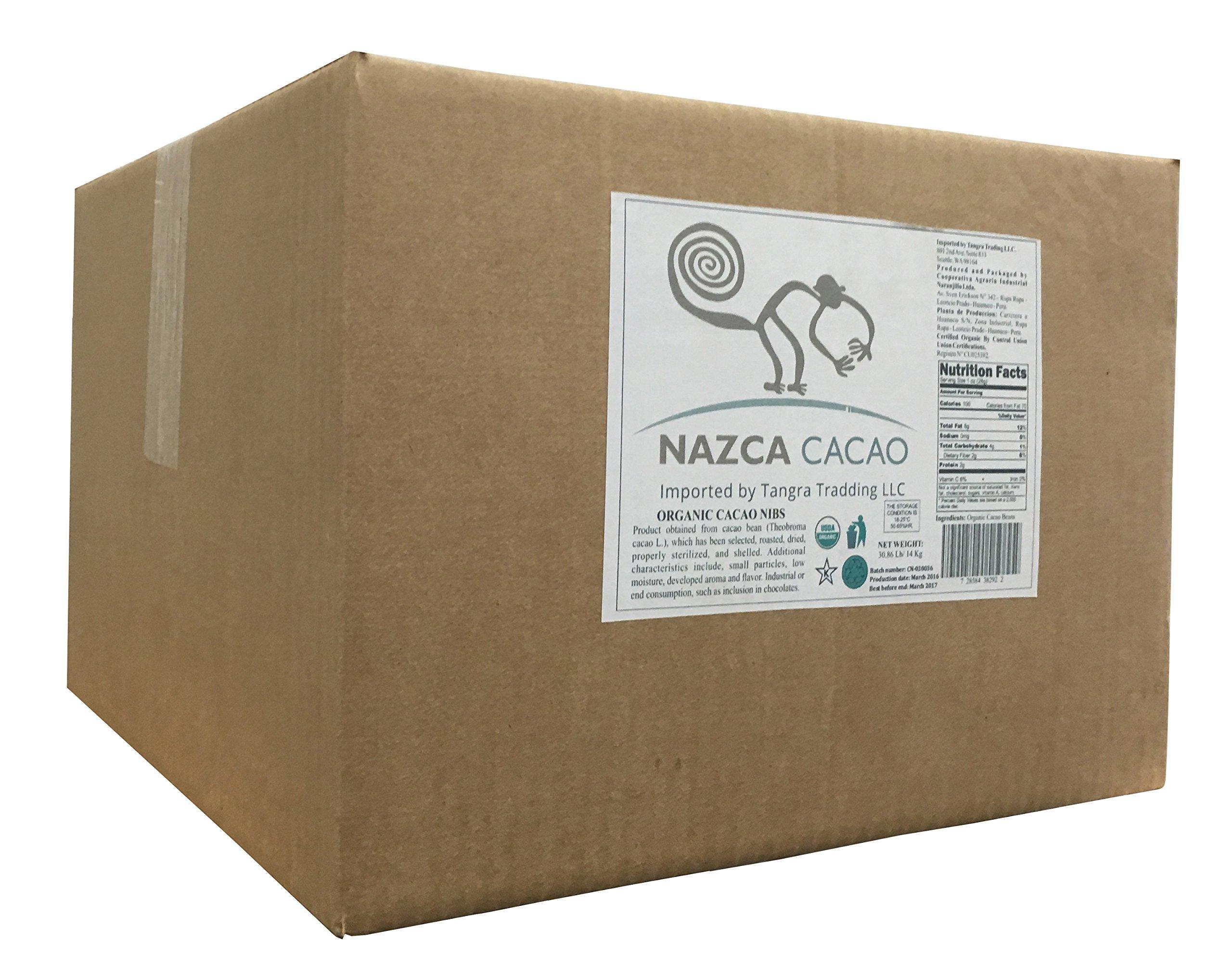 Nazca Foods Organic Cacao Nibs - Bulk 30.86lb (14kg)