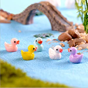 Ruzucoda Duck Figure Animal Miniature Toys Home Garden Office Decorations 5 Colors 20 PCS