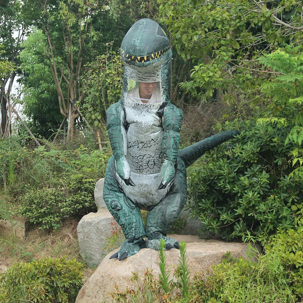 Fernando Guapo - Disfraz de Dinosaurio Inflable para Adultos y y y nintilde;os, Disfraz de Santa Claus para Cosplay, Tyrannosaurus Rex T-Rex, 4, Adult: 160-185cm 862682