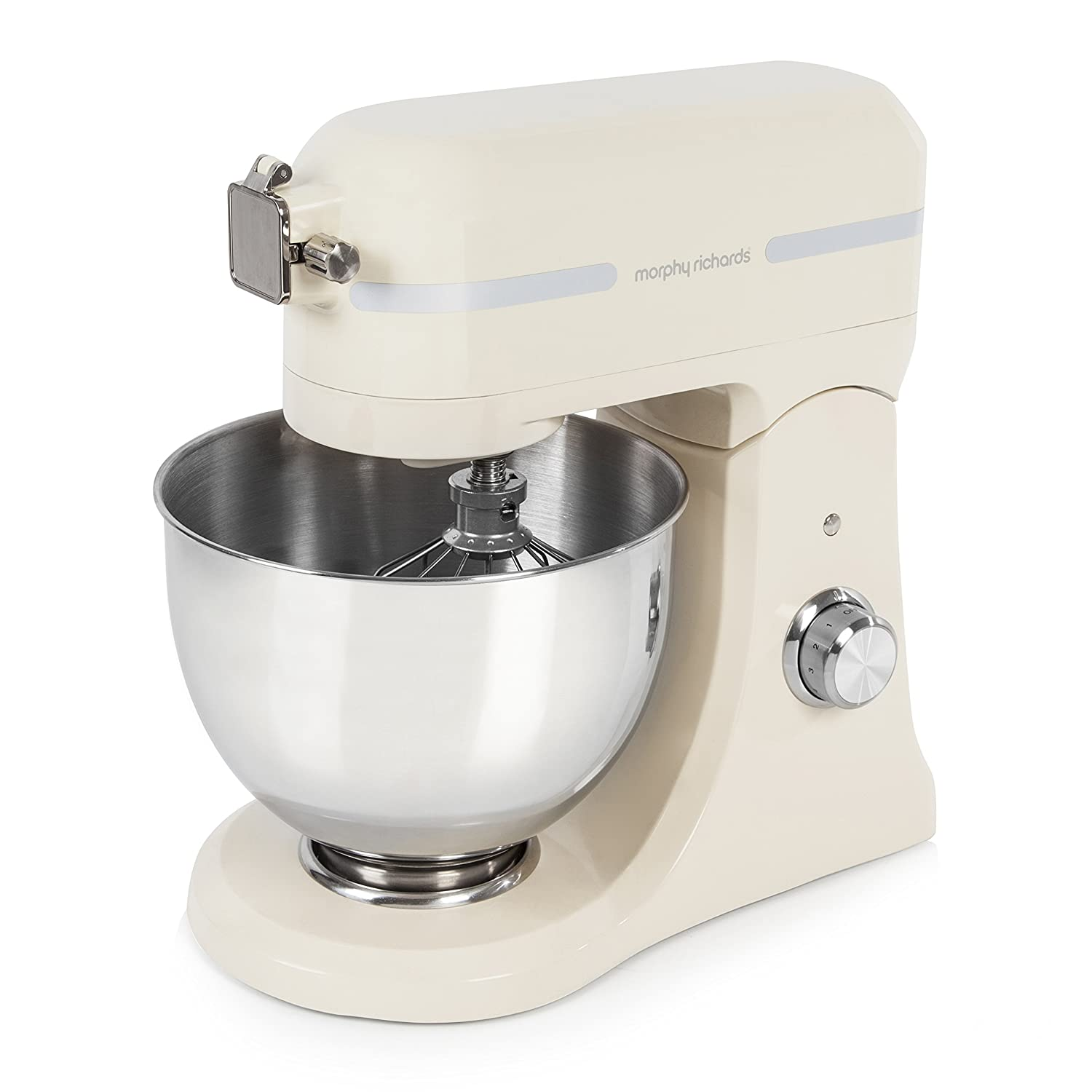 800 W Morphy Richards 400009 Professional Diecast Stand Mixer with Guard Cream