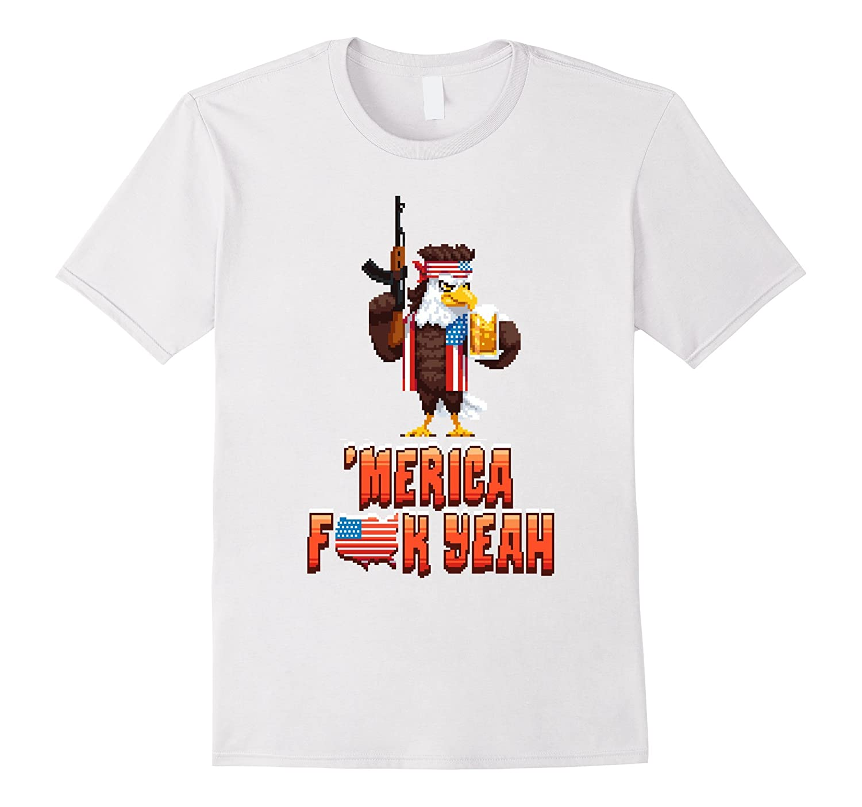 'Merican Eagle Merica T-Shirt Perfect Labor Day Gift Idea-TH