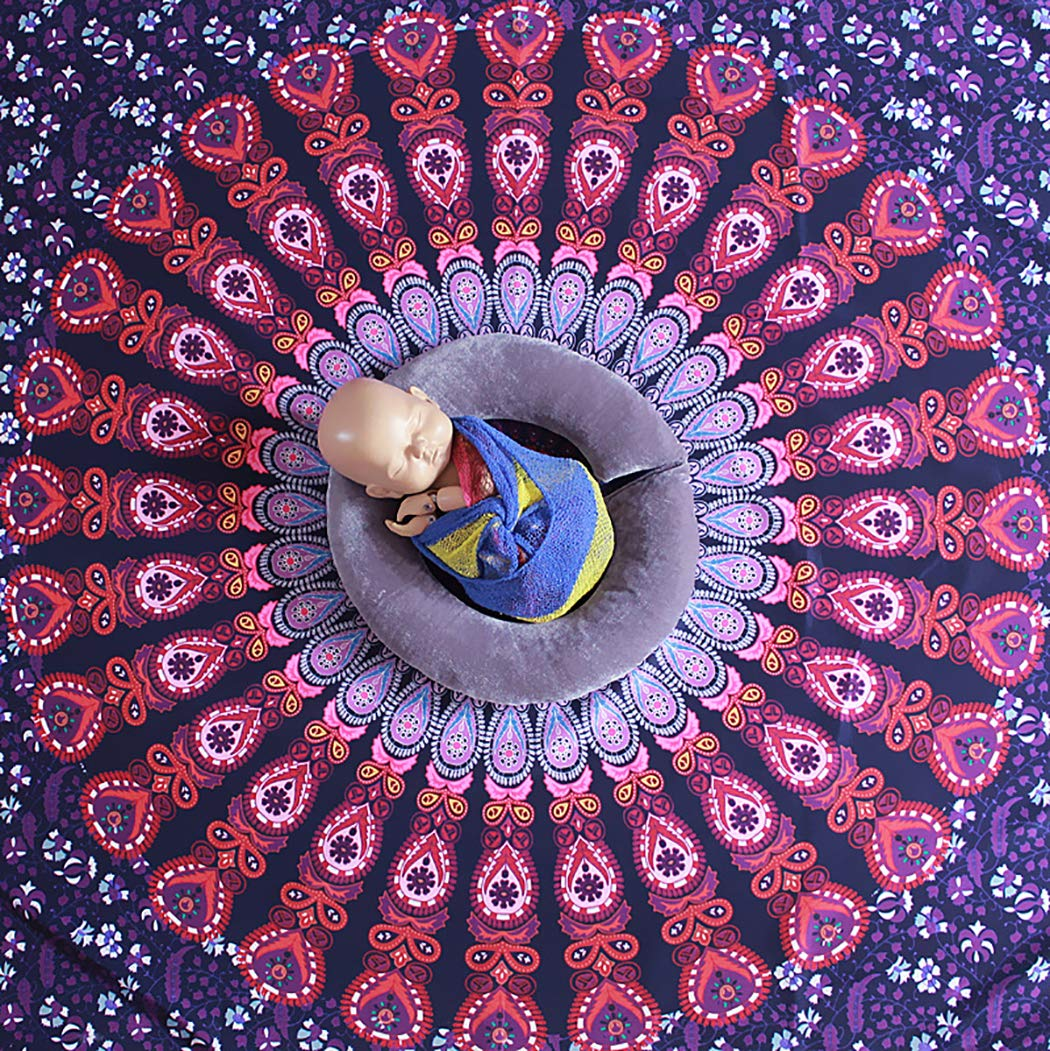 Kapmore Background Blanket Soft Ethnic Style Photo Blanket Photography Prop for Baby by Kapmore