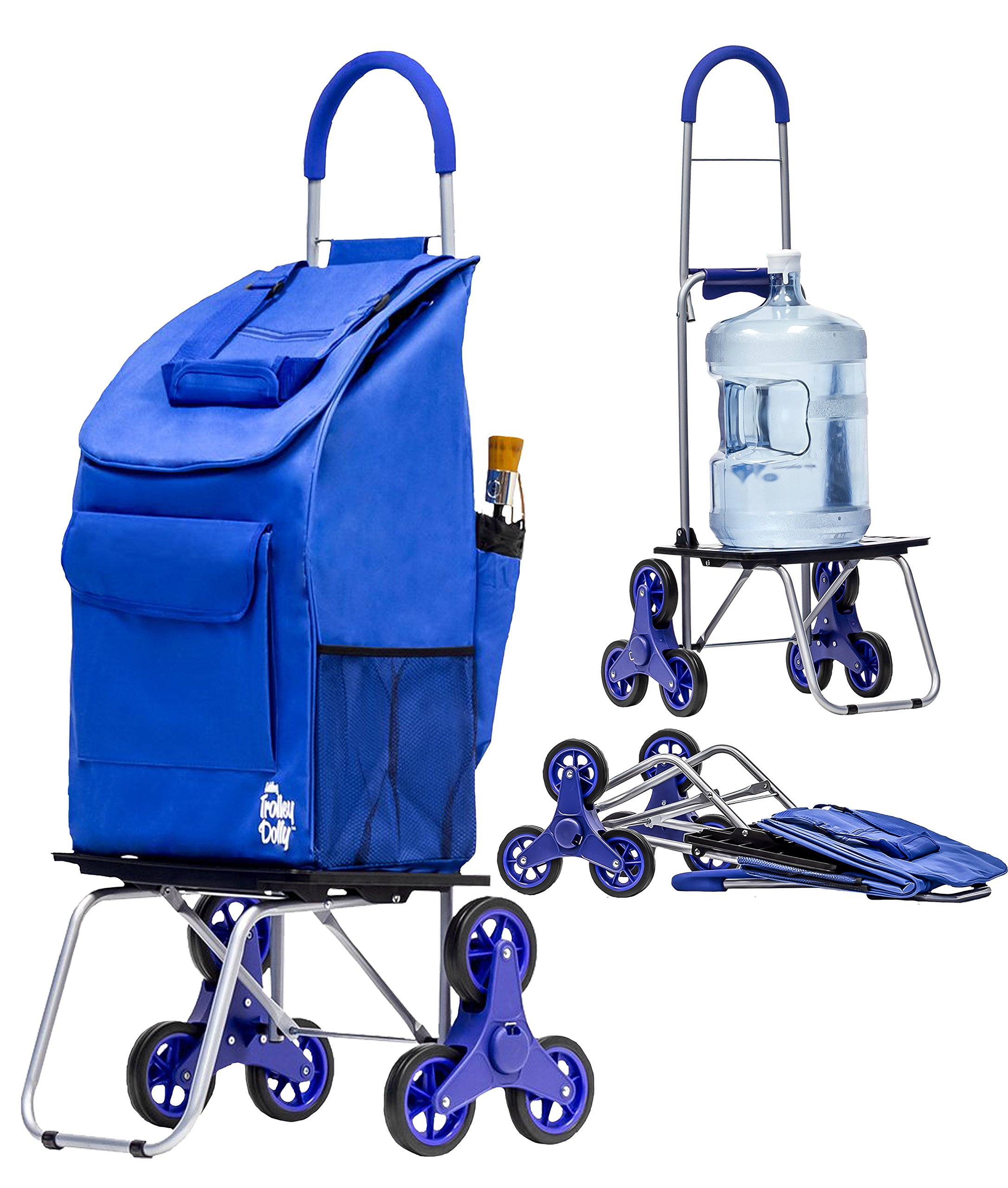 42d642046449 Details about Stair Climber Bigger Trolley Dolly Shopping Cart, Blue