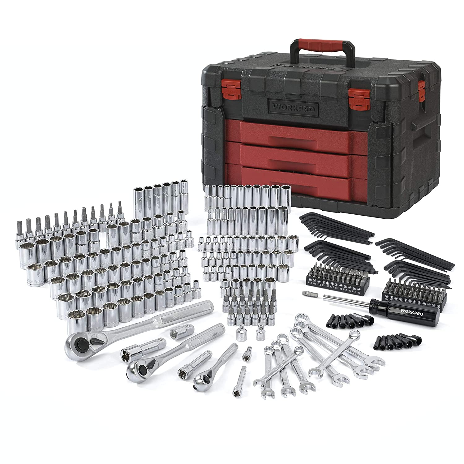 WORKPRO 320-Piece Mechanics Tool Kit, Professional Socket Set with Heavy Duty Case Box HANGZHOU GREATSTAR INDUSTRIAL CO. LTD