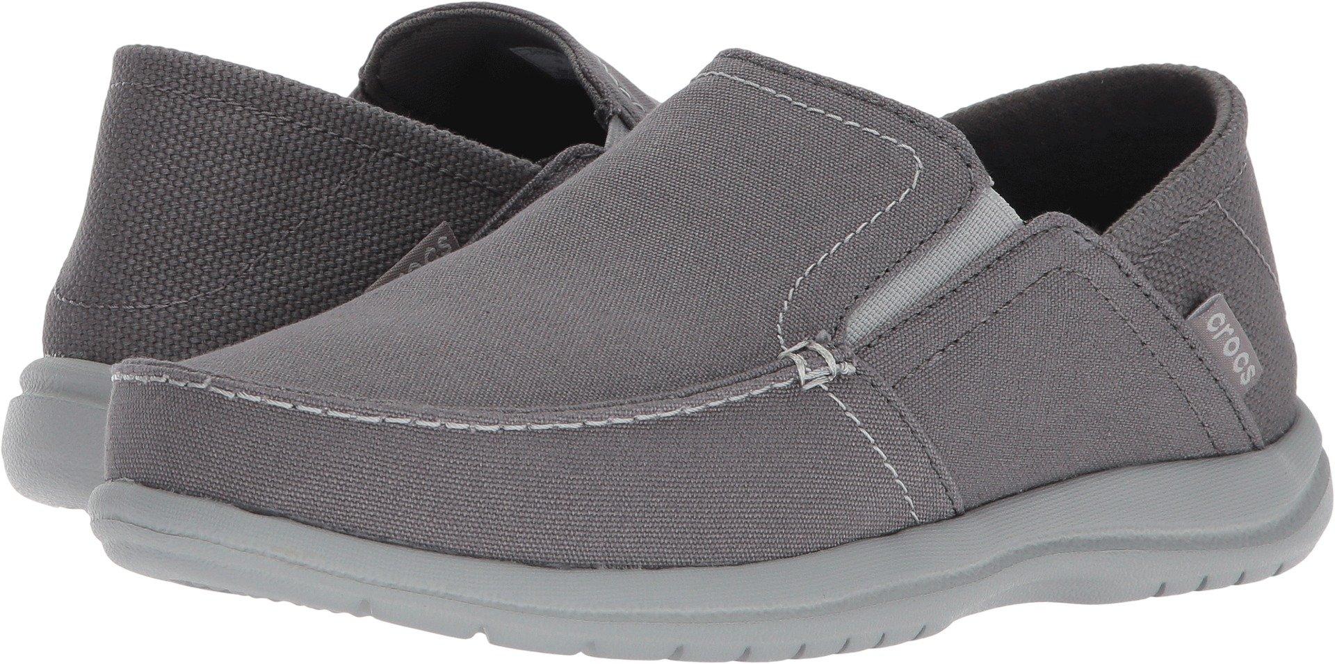 Crocs Men's Santa Cruz Convertible Slip-on Loafer, Light Grey/Slate Grey, 10 M US by Crocs