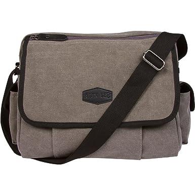 Canvas Messenger Bag For Men   Women by Alen Lee –13 in Laptop Shoulder  Crossbody 2e84c3034467e