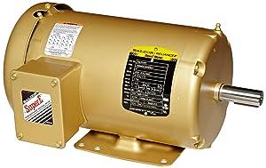 Baldor EM3558T General Purpose AC Motor, 3 Phase, 145T Frame, TEFC Enclosure, 2Hp Output, 1755rpm, 60Hz, 208-230/460V Voltage