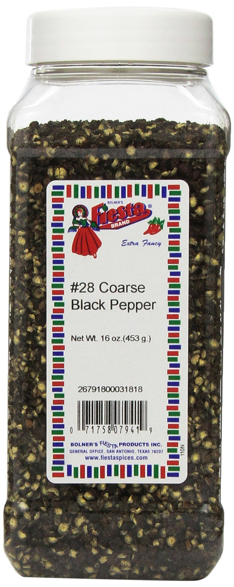 Bolner's Fiesta Extra Fancy #28 Coarse Black Pepper, 16 Oz. by Fiesta (Image #1)