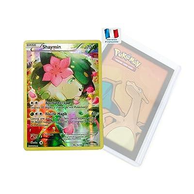 Carte pokemon 20th Promo à l' unité SHAYMIN Full Art en français avec double protège-cartes