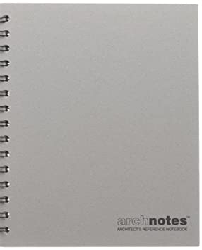 archnotes architect s reference notebook 1 8 grid paper 6 5 x 8