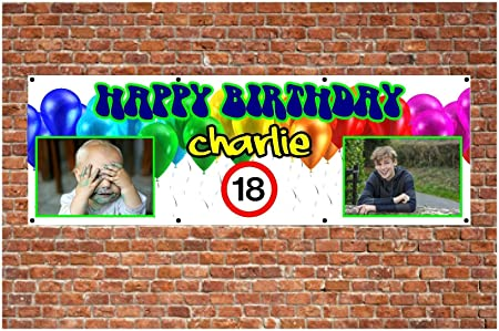 Carteles de PVC para cumpleaños al aire libre, cualquier ...