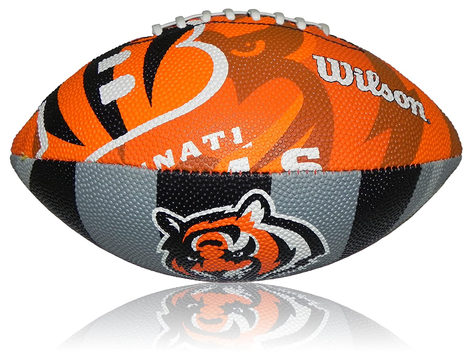 Wilson NFL Junior Cincinnati Bengals Football Logo WTF1534XBCN, Multi, 5