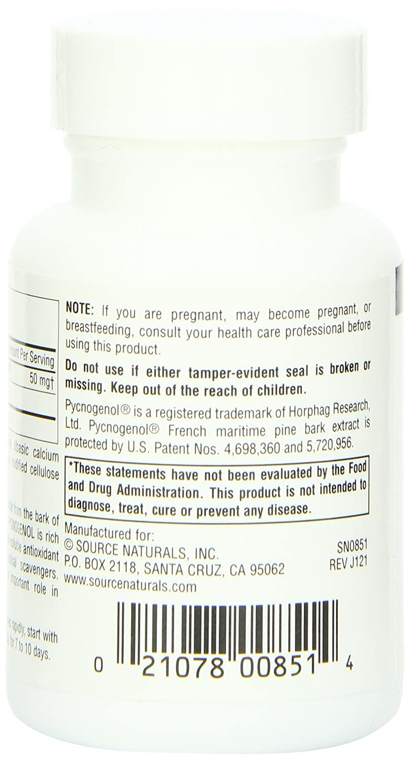 Amazon Com Source Naturals Pycnogenol 50mg Proanthocyanidin Complex