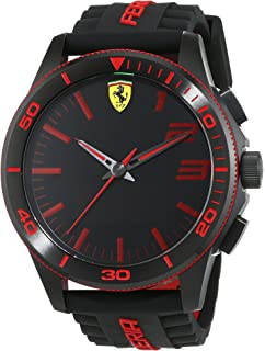 d4bab1bb57 Buy Ferrari Men s 0830138 Scuderia Xx Silicone Band Analog Black ...