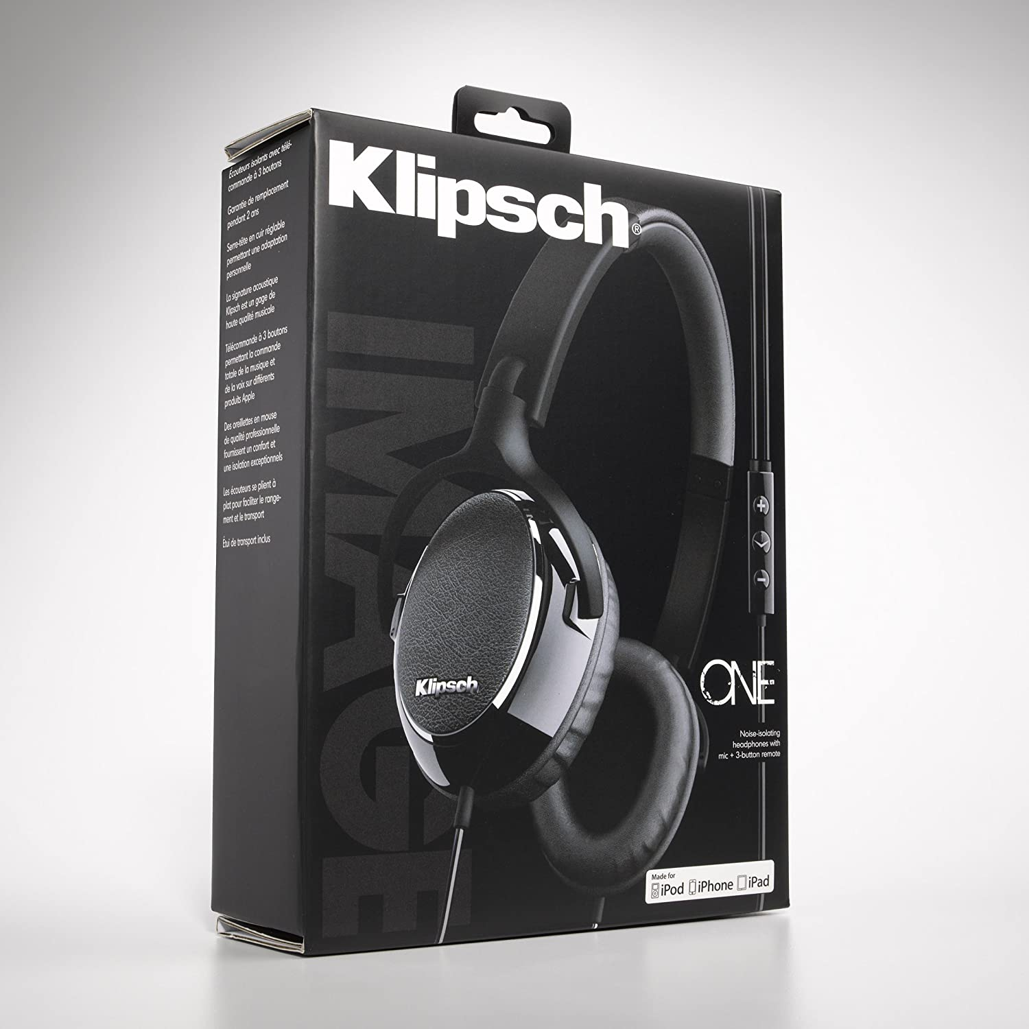 Klipsch Image One Premium On Ear Earphones With Mic And Headphone Wiring Diagram 3 Button Apple Control Black Gloss Discontinued By Manufacturer Home Audio