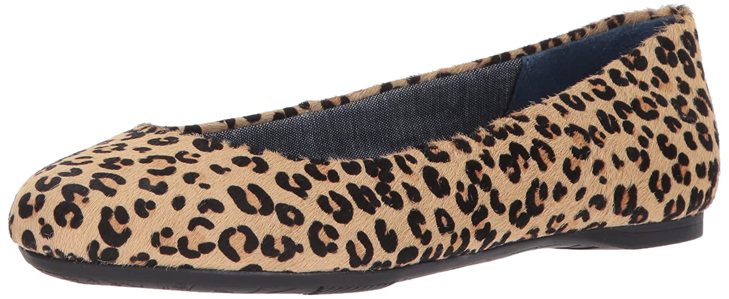 Dr. Scholl's Shoes Women's Giorgie Flat B01MV2TB1L 7 B(M) US|Tan/Black Leopard Pony Hair