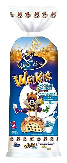 Weikis Chocolate con Leche 6 - Paquete de 6 x 42 gr - Total: 252