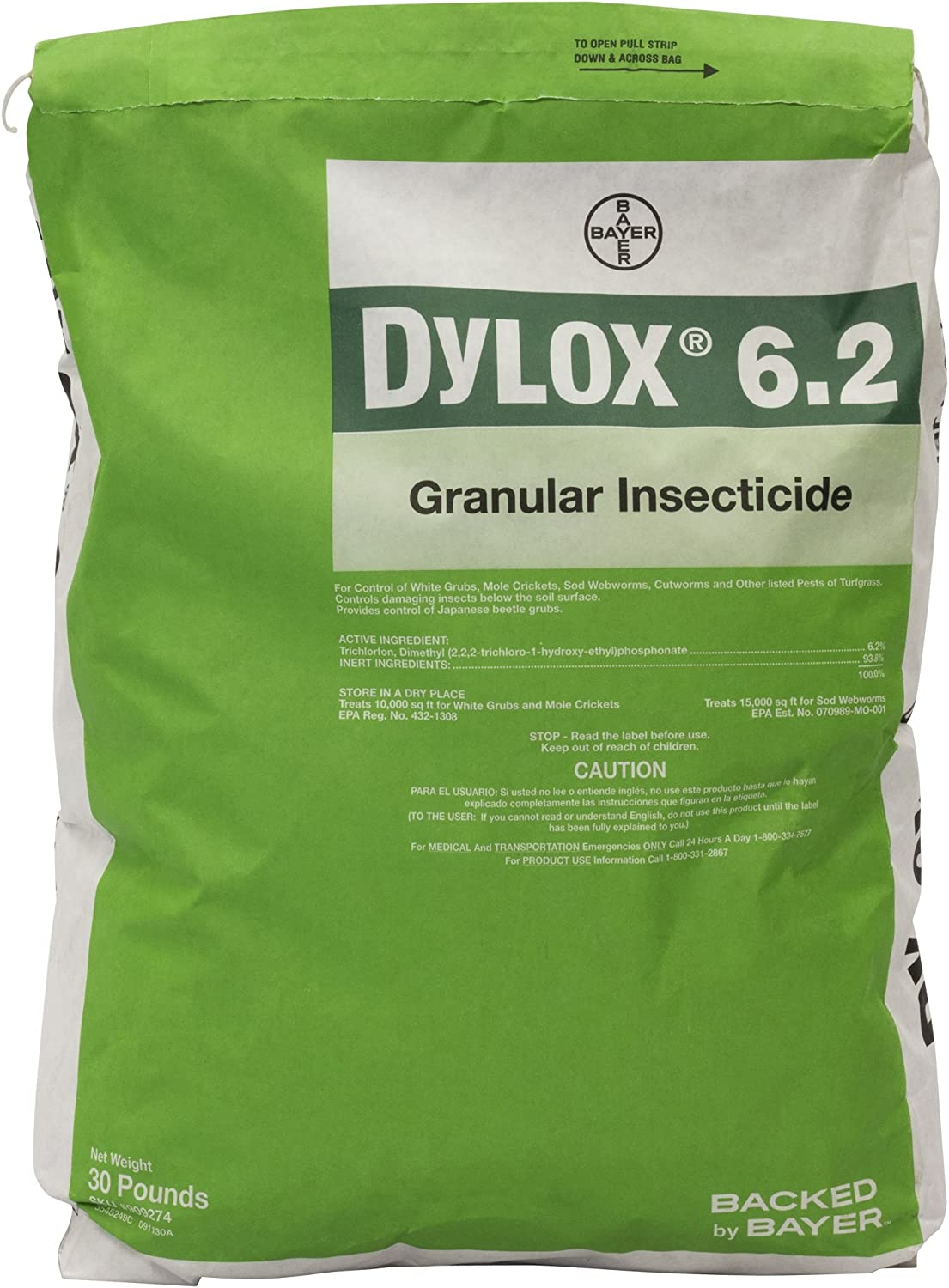 Bayer Dylox 6.2 Granular White Grub Insecticide