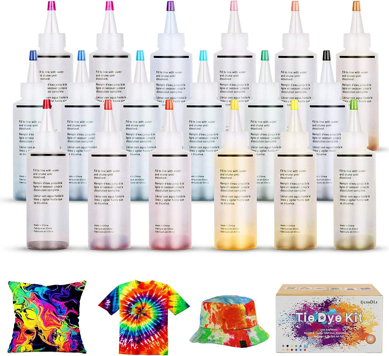 Stoff Bunte Tie-Dye-DIY-Kit Permanente Farbe Dekorieren Kleidung Graffiti Herstellung ungiftiger Tie-Dye-Lieferungen f/ür Party Festival Versammlung 18 Farbe Tie-Dye-Kits
