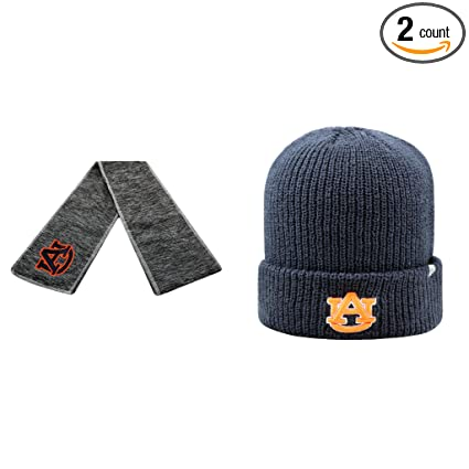 online store 297bd 34597 NCAA Auburn Tigers Hail Scarf And Heavy Beanie Hat 2 Pack Bundle