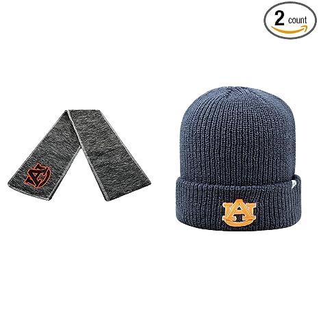 c3b812f08 Amazon.com : NCAA Auburn Tigers Hail Scarf And Heavy Beanie Hat 2 ...