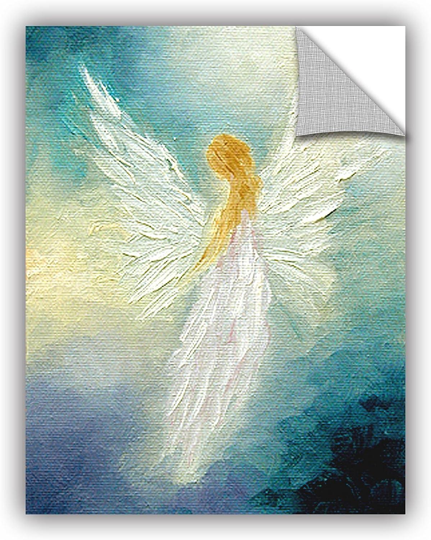 14 by 18 ArtWall Marina Petros Angel Moon Art Appeelz Removable Wall Art Graphic