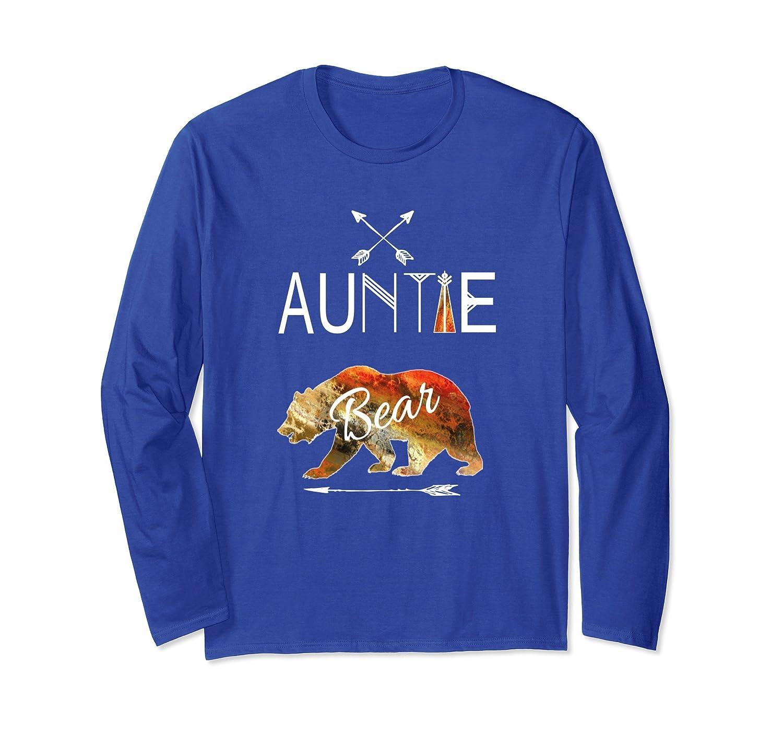 Auntie Bear Longsleeve Shirt Tribal Family Vacation Camping-AZP