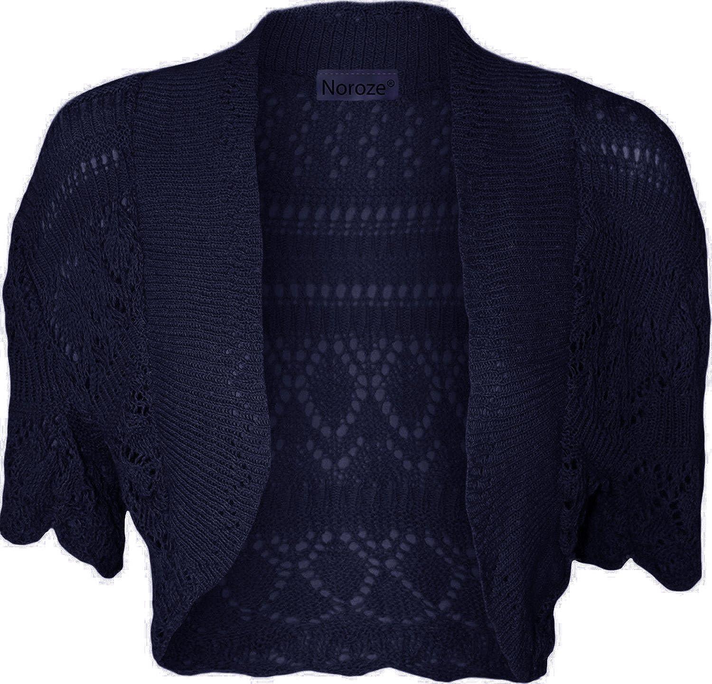 NOROZE Kids Girls Short Sleeve Knitted Shrug Cardigan
