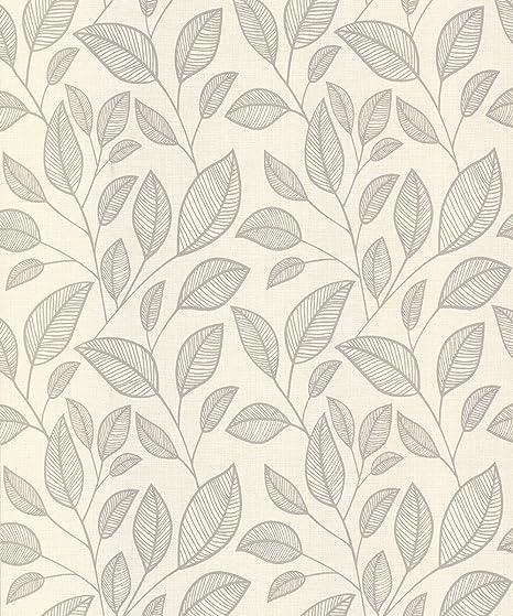 Belgravia Memento Rosemoor Ebony Metallic Leaf Designer Wallpaper 9541-A